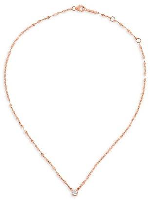Lana Solo Diamond & 14K Rose Gold Pendant Necklace