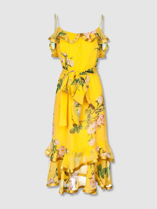 Andreeva Yellow Rose Silk Dress