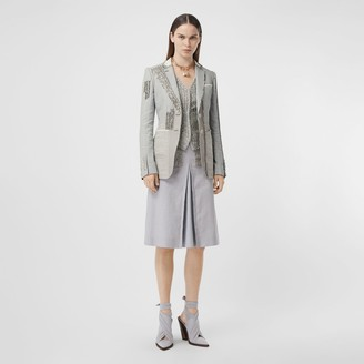 Burberry Crystal Embroidered Technical Linen Blazer