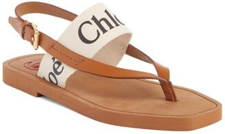 Chloé Woody Logo Sandal