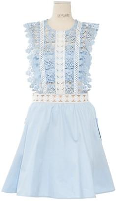 Self-Portrait Self Portrait \N Blue Cotton Dresses
