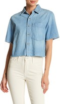 Mother The Frenchie Crop Fray Shirt