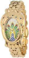 Brillier Women's 18-09 Royal Plume Peacock Inspired Swiss Genuine Blue Sapphires Watch