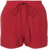 Robert Rodriguez drawstring mini shorts - women - Silk - XS