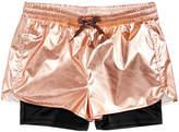 Ideology Metallic Layered-Look Shorts, Big Girls, Created for Macy's