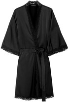 Mimi Holliday Lace-trimmed silk-blend robe