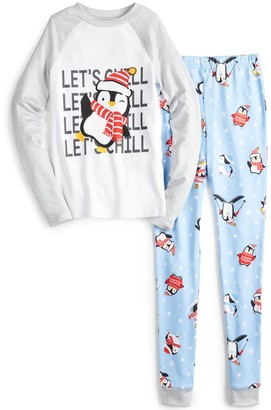 Cuddl Duds Boys 4-20 Jammies For Your Families Cool Penguin Top & Pants Pajama Set