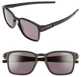 Oakley Women's Latch 52Mm Rectangular Sunglasses - Matte Black/ Iridium P