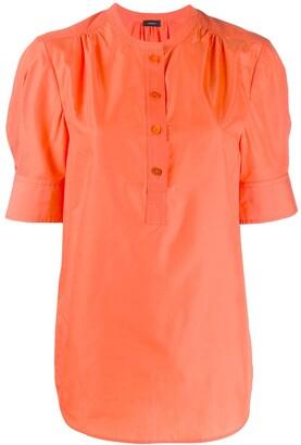 Joseph short-sleeve shift blouse
