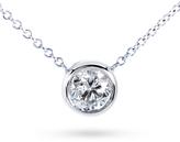 Kobelli Jewelry Kobelli 3/4 CT TW Round-Cut Diamond 14K White Gold Solitaire Pendant Necklace