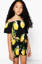 boohoo Girls Lemon Print Top & Shorts Co-ord