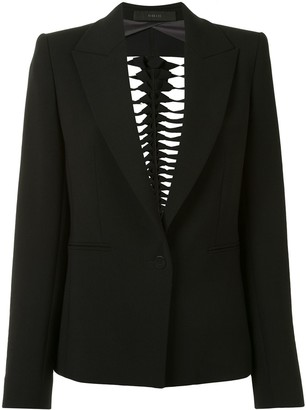 Dion Lee Filter cut-out blazer