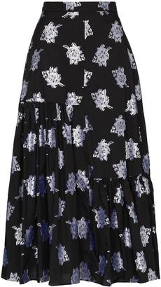 Erdem Gaura tiered floral-print skirt