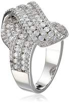 "Kenneth Jay Lane CZ by Trend"" Twist Front Cubic Zirconia Ring, Size 7, 6 CTTW"