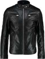 Celio Faux Leather Jacket Noir