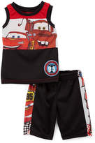 Children's Apparel Network Cars Black & Red Tank & Shorts - Toddler & Boys