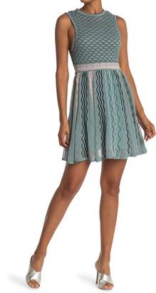 M Missoni Texture Crew Neck Fit & Flare Dress