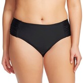 Ava & Viv Women's Plus Size Hipster Swim Bottoms Black