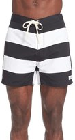 Saturdays Nyc Offset Stripe Board Shorts