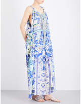 Camilla Porcelain Paradise silk-georgette maxi dress