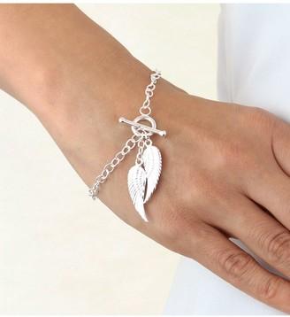 Sterling Silver Angel Wings T-Bar Bracelet