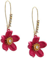 Betsey Johnson Floral Threader Earrings - Women's