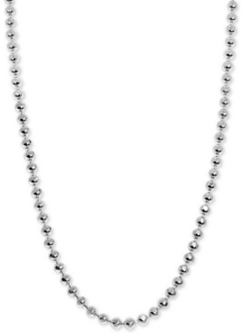 """Alex Woo Beaded 16"""" Mini Chain Necklace in Sterling Silver"""