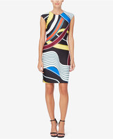 Catherine Malandrino Printed Scuba Sheath Dress