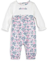 Absorba Infant Girls' Floral Corduroy Coverall - Sizes 0-9 Months