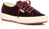 Superga Velvet Lace Up Sneakers