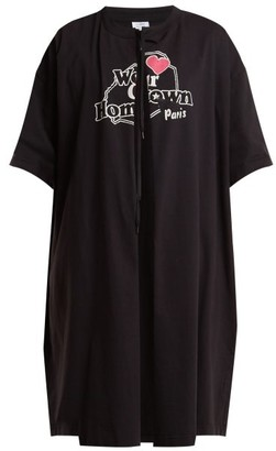 Vetements Printed T-shirt Coat - Womens - Black