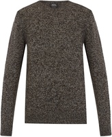 A.P.C. Wind crew-neck wool-blend sweater