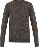 A.P.C. Wind crew-neck wool-blend sweater