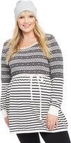 Motherhood Plus Size Fairisle Babydoll Maternity Sweater