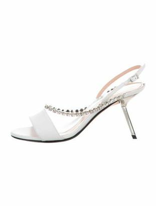 Alchimia di Ballin Leather Open-Toe Sandals w/ Tags White