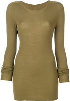 Rick Owens ribbed round neck sweater - women - Virgin Wool - S