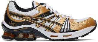 Asics White and Gold Gel-Kensei OG Sneakers