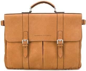 Brunello Cucinelli double buckled briefcase