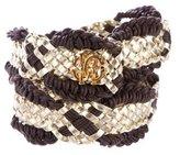 Roberto Cavalli Leather Woven Belt