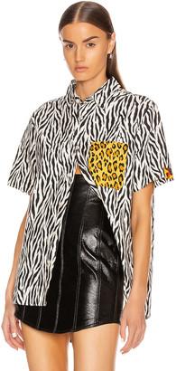 R 13 Tony Shirt in Zebra | FWRD