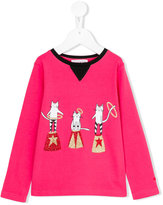 Rykiel Enfant - circus cat print top - kids - Cotton - 2 yrs