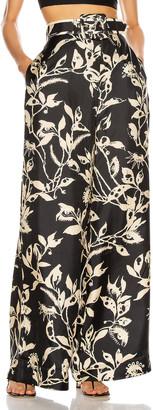 Zimmermann Ladybeetle Wide Leg Pant in Black Eye Print | FWRD