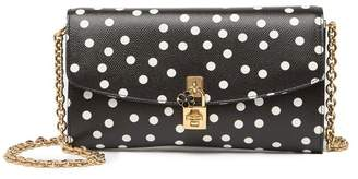 Dolce & Gabbana Chain Leather Crossbody Bag