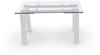 "Calligaris Levante Extendable Dining Table Top Color: Matte Optic White, Base Color: Matte Optic White, Size: 30"" H x 55.13"" W x 35.5"" D"