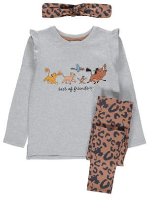 Disney George The Lion King Top Leggings and Headband Outfit
