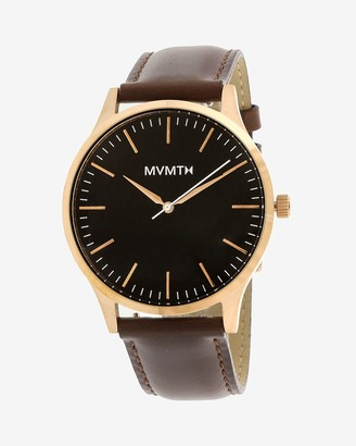 Express Mvmt Men'S Rose Gold 40 Leather Watch