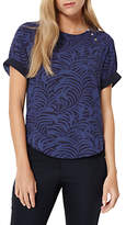 Damsel in a Dress Plumage Print Blouse, Navy
