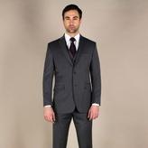 Karl Jackson Charcoal Herringbone Regular Fit 2 Button Jacket