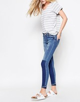 Vila Two Tone Block Skinny Jeans