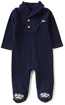 Edgehill Collection Baby Boys Preemie-6 Months Shawl-Neckline Long-Sleeve Footed Coverall
